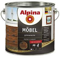 Мебельный лак алкидный Mobel SM 2.5л Прозрачный Alpina