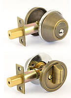 Замок MUL-T-LOCK DEAD BOLT DBM ANTIQUE BRASS UNIV BS60мм CLASSIC