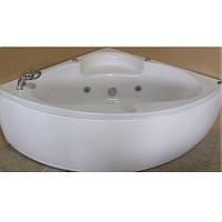 Ванна угловая с гидромассажем и пневмокнопкой AT-970 140х140 Appollo