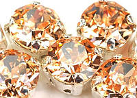 Стразы в золотых цапах Swarovski 17704 Gold Plated Light Peach