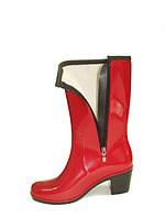 Сапоги резиновые (ПВХ) на каблуке модель ПС 20-2 Alida