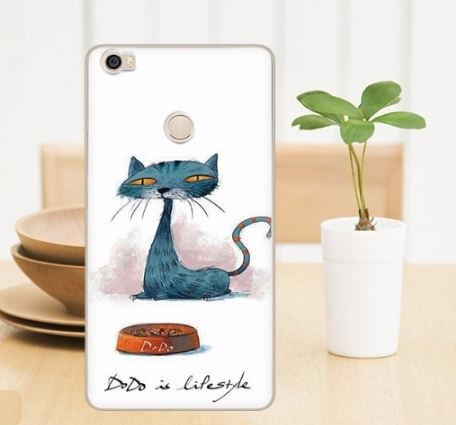 Оригинальный чехол бампер для Xiaomi Mi Max с картинкой Кот Додо