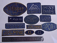 Аппликация джинсовая термоклеевая  12 шт.