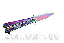 Нож складной, бабочка (балисонг) B801, фото 2