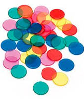 Диски-каунтеры, токены 19/1 мм (10 шт) (жёлтый)  (Transparent discs (10 pcs))