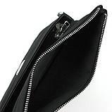 Мужская черная сумка Philipp Plein 0881-5 текстильная маленькая через плечо, фото 3