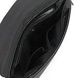 Мужская черная сумка Philipp Plein 0881-5 текстильная маленькая через плечо, фото 4