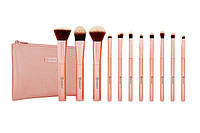 Набор кистей в косметичке Metal Rose – 11 Piece Brush Set With Cosmetic Bag BH Cosmetics Оригинал