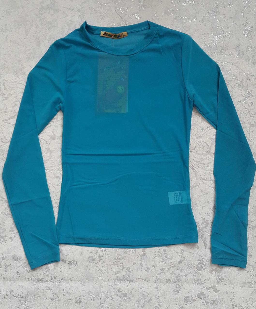 Блуза-сеточка на девочек Бирюза