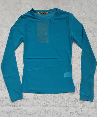 Блуза-сеточка на девочек Бирюза, фото 2