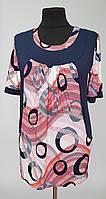 Оригинальная летняя женская туника больших размеров с карманами