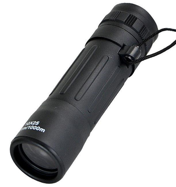 Монокуляр, монокль 10x25 с чехлом MilTec Black 15705002