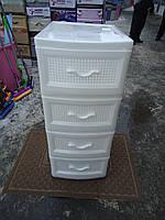 Пластиковый комод белый Украина