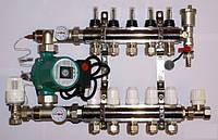 Колектор для теплої підлоги в зборі на 8 вих. без насоса