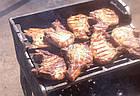 Решетка чугунная гриль-барбекю чугунная 340 х 425 мм., фото 2