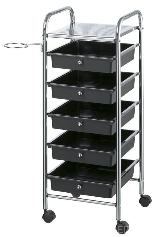 Тележка Coiffeur 32x33x81,5 см, черная