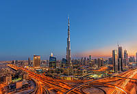 Фотообои Бурдж-Халифа в Дубае №973 366x254см (Клей в комплекте) W+G