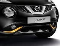 Nissan Juke 2015-17 желтые накладки на бампера бампер передний задний Новые Оригинал