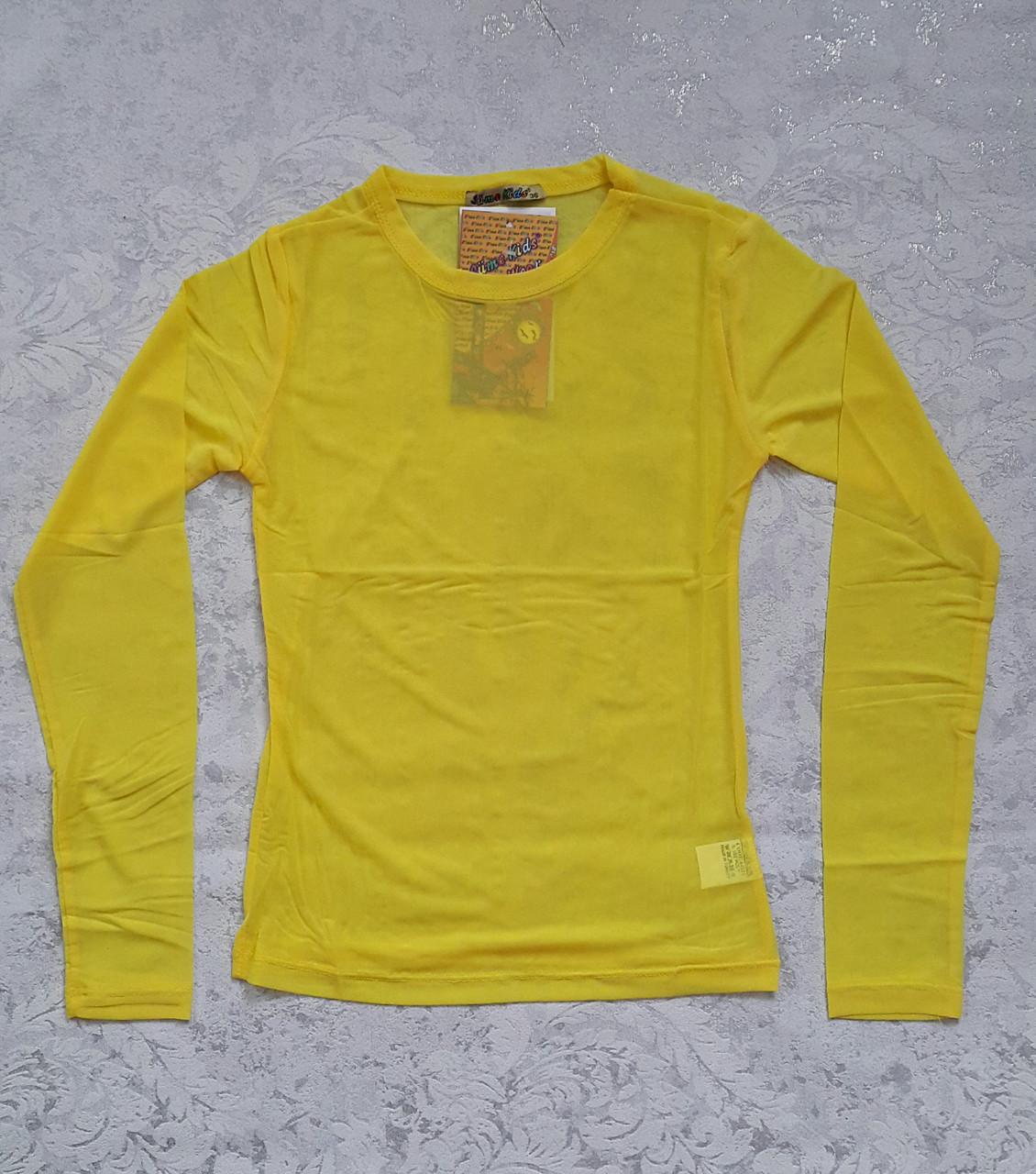 Блуза-сеточка на девочек Лимончик