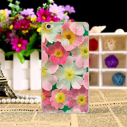Эксклюзивный силиконовый чехол для Xiaomi Mi Max Цветы