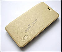 Чехол для Xiaomi Redmi Note 3 Pro SE, чехол-книжка Lenuo золотистый, фото 1