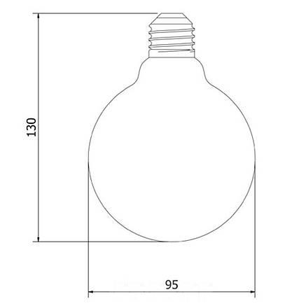Лампа накаливания Эдисона 40вт G95 VITO, фото 2