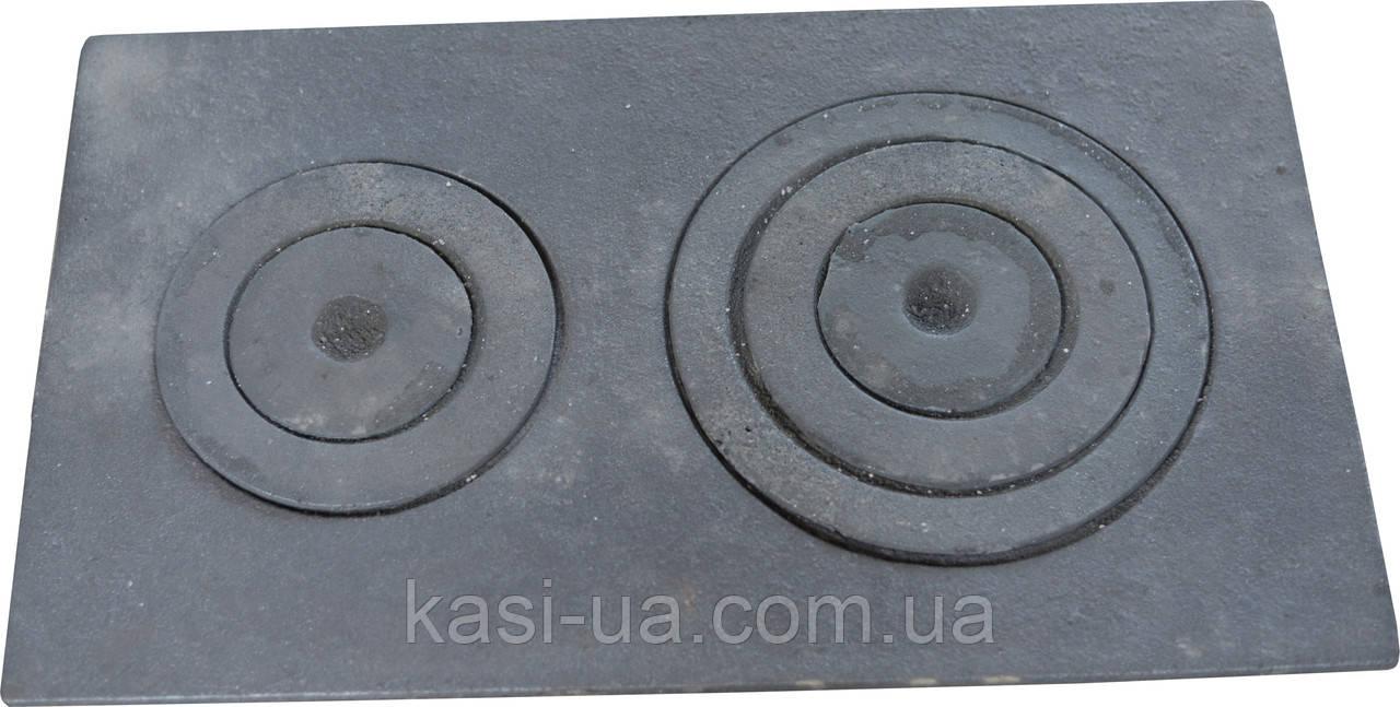 Плита чугунная печная с комфорками ПД-4 (750 х 450 мм.)
