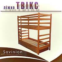 """Ліжко дерев'яне Твікс Sovinion / Кровать двухъярусная деревянная """"Твикс"""" Совиньон, фото 1"""