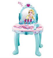 Детский туалетный столик для девочки трюмо 008-905, световые и звуковые эффекты, фен, аксессуары