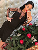 Платье женское кружевное