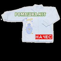 Детская кофточка р. 68 с начесом  демисезонная ткань ФУТЕР 100% хлопок ТМ Алекс 3222 Голубой2