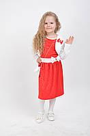 Красивое детское платье  с белым болеро и сумочкой на цепочке