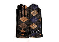 Интересные женские перчатки в английском стиле, с милым бантиком в качестве декора