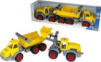 Набор из двух машин Самосвал + Трактор погрузчик Wader 38159