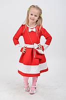 Однотонное платье для девочки с красивым бантиком 0180