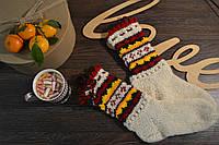 Шерстяные вязаные носки с кутасиками