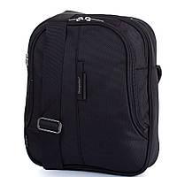 Мужская чёрная спортивная сумка на плечо ONEPOLAR(ВАНПОЛАР) W5095-black