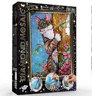 Діамантовий живопис ДМ-01-04 Кіт DIAMOND MOSAIC великий ДТ (1/10)