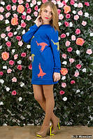 Платье-туника с принтом, размер 42-44,46-48.