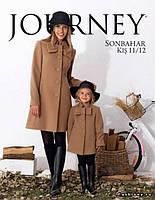 Набор пальто мама и дочка. Элегантное кашемировое пальто на пуговицах, декорированное бантом.