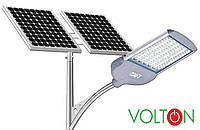 Фонарь уличного освещения светодиодный 30 Вт с солнечной батареей 140Вт