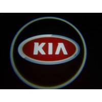 Дверной логотип LED LOGO 100 KIA, Светодиодная подсветка на двери с логотипом, Лазерная проекция