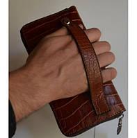 Кожаный клатч мужской ручной m013  (Барсетка, Ручная работа)