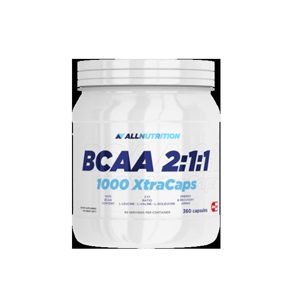 AllNutrition BCAA 2:1:1 1000 Xtra Caps, 360caps