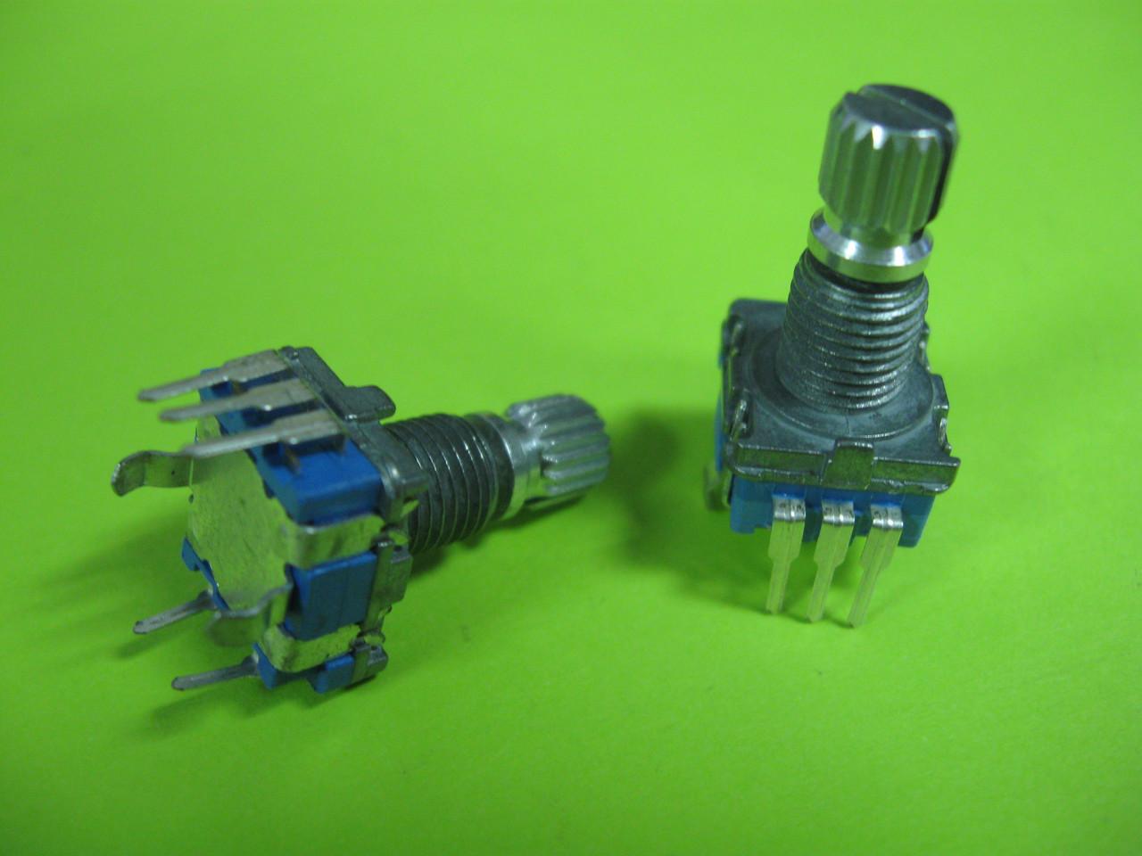Энкодер для аудиотехники RE(11) EC11 360° вращение, 5 pin с кнопкой, L=15mm - RadioStore в Днепре