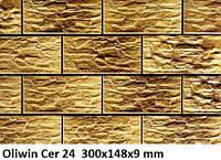 Плитка для фасада CER 24 - Oliwin 7375 Strukturalna 300x148x9