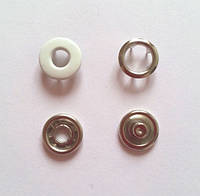 Кнопка 9,5 мм - № 101 белая бублик
