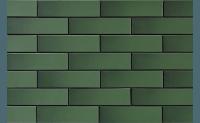 Плитка для фасада Szkliwione zielone 9843 гладкая 245 x 65 x 6,5