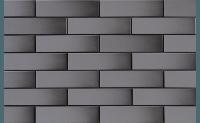 Плитка для фасада Szkliwiony grafit 9867 гладкая 245 x 65 x 6,5