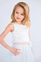 Платье нарядное для девочки белое 4-6 лет размер 104-116